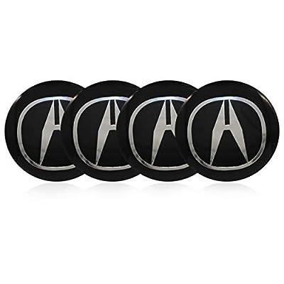 4 x 56.5mm Car Lettering BBS Wheel Center Cap Sticker Wheel Emblem Badge Logo Stickers (fit Acura): Automotive