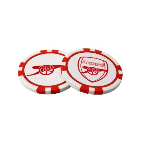 Arsenal FC Poker Chip Ball Marker 2-Pack - White/Red by Arsenal F.C.