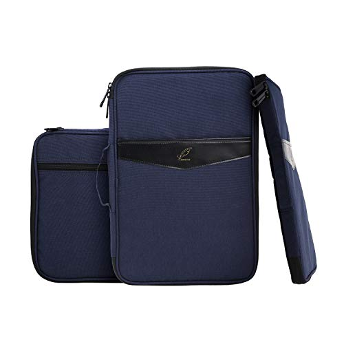 "Extra-Large Zipper Portfolio, Business Laptop Sleeves Organizer,All in one Bag for 15"" Laptop,Ipad,Notebook,Cards,Pens,Kindle,etc."