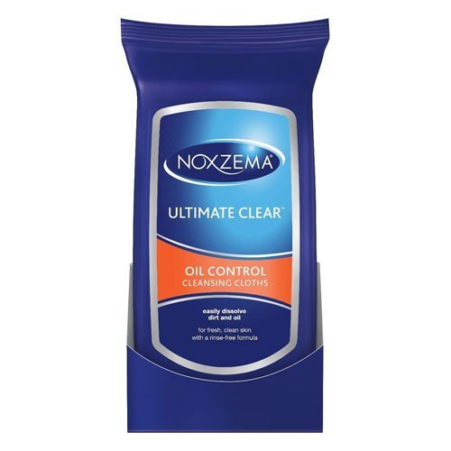 Noxzema Ultimate Clear Oil Control Cleansing Cloths for Unisex, 25 Count