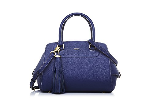 bonia-womans-blue-guilietta-satchel-one-size