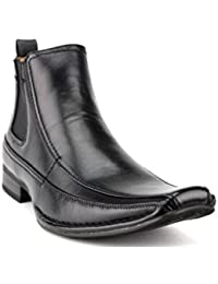 New Men's 76631 Leather Lined Ankle High Chelsea Dress Boots