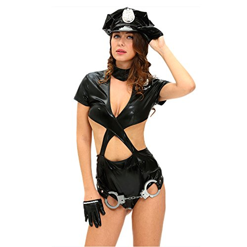 [Slocyclub Sexy Cop Police Women Outfit Stage Role Play] (Cleopatra Outfit)