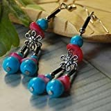 usongs Original European style palace luxury Thai original plum turquoise earrings fashion personality cute