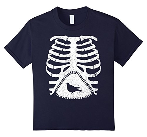 Pigeon Skeleton (Kids Skeleton Maternity PIGEON Bird T-Shirt 12 Navy)