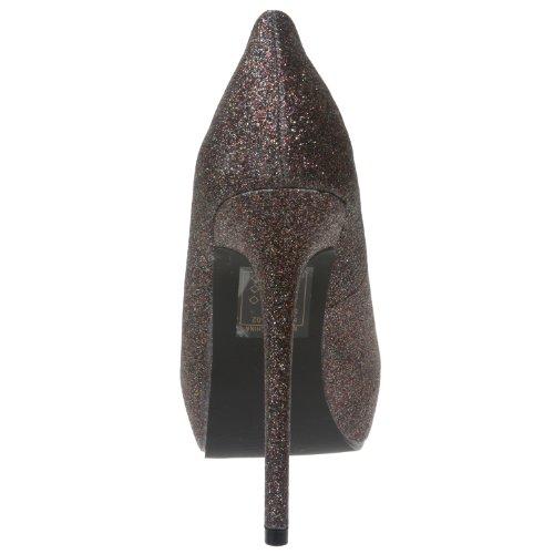 Breckelles High Glitter Toe Open Heel Pewter Pumps Womens Platform Multi rTwZ7rq