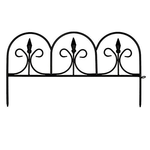 (10 in. Resin Victorian Fleur De Lis Garden Fence (12-Pack))