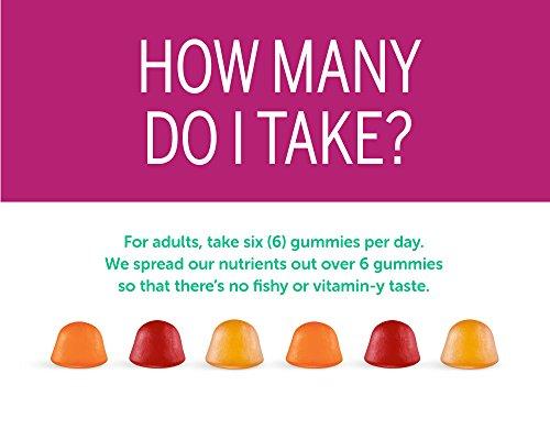 SmartyPants Women's Complete Gummy Vitamins: Gluten Free, Multivitamin, CoQ10, Folate (Methylfolate), Vitamin K2, Vitamin D3, Biotin, Methyl B12, Omega 3 DHA/EPA Fish Oil, 180 count (30 Day Supply) by SmartyPants Gummy Vitamins (Image #7)