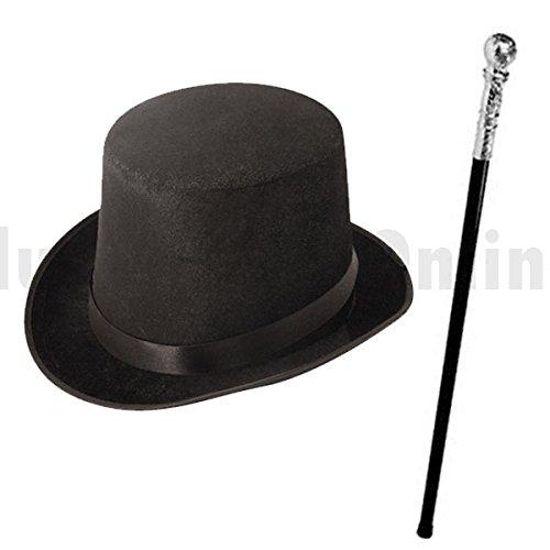 Blue Planet Fancy Dress ® Childrens Kids Boys Factory Owner Top Hat & Cane Book Week Fancy Dress (Black)