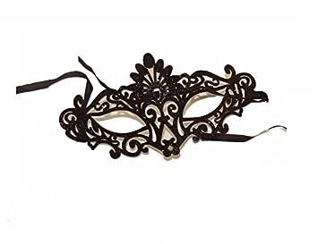 Filigrana Glitter Masquerade máscara negro, ideal para fiestas de disfraces, máscara, día del