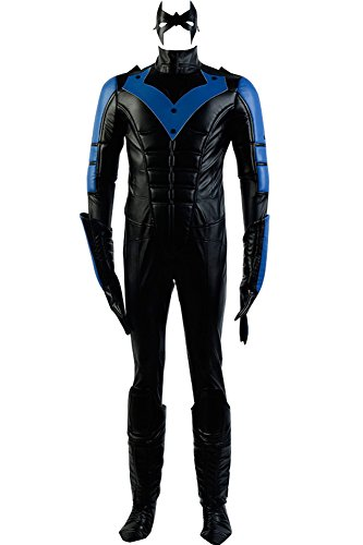 Men's Halloween Costume Richard John Dick Grayson Outfit Nightwing Costume,Large Black -
