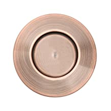 Sink Top Push Button Replacement for Insinkerator Air Switch Garbage / Waste Disposal Outlet By Essential Values (Red Oil Bronze Cover)