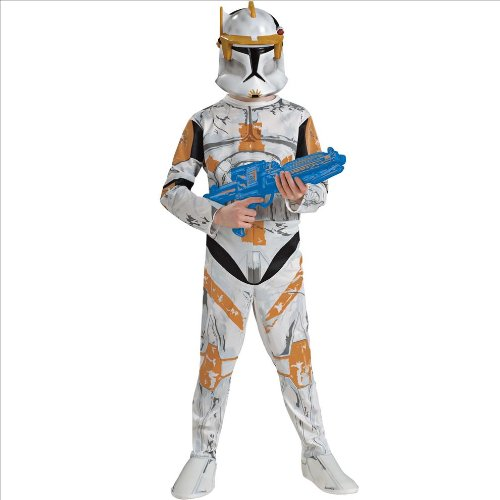 [Star Wars Animated Clone Trooper Commander Cody Adult Costume Men] (Star Wars Commander Cody Costumes)