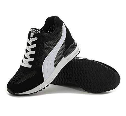 Mesh Breathable Heightening Women's Shoes Non Black Shoes Sports Summer New Outdoor Casual slip DANDANJIE Shoes HTwqXA
