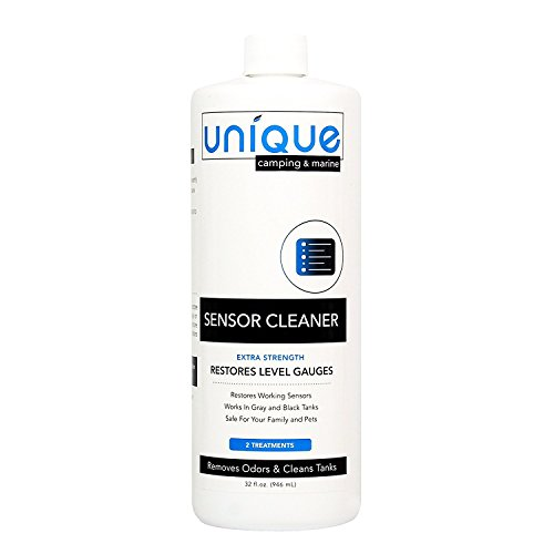 Unique RV Sensor Cleaner - 32 oz. | For RV and Boat Black Water Holding Tanks | Cleans and Restores Level Gauges | Works On Old and New Problems