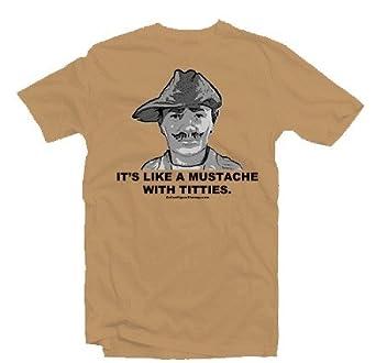 2480cc43 Amazon.com: Mustache With Titties T-Shirt: Clothing