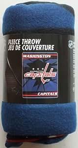 Fleece Throw Washington Capitals NHL Professional Hockey Sports Team 50x60 Fleece Fabric Throw