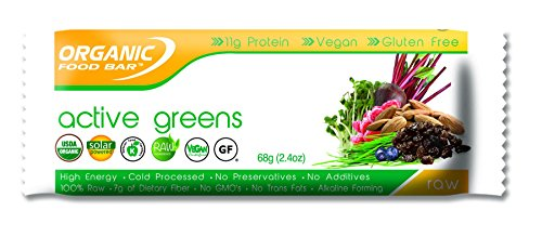 Organic Food Bar – Active Greens, 2.4 Ounce Pack of 12