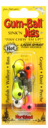 Northland Tackle RH4-99 1/4 Oz. Gum-Ball Jig, Assorted