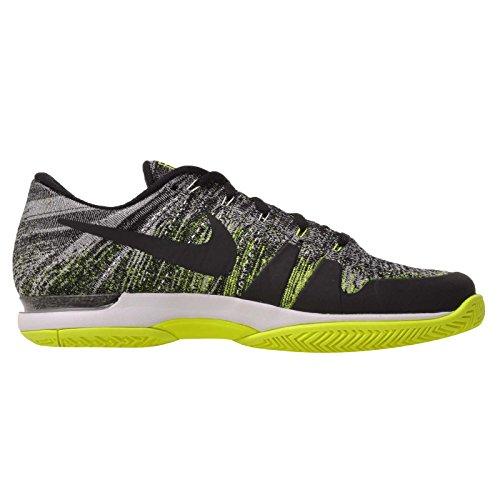 Nike Herren Tennisschuhe Zoom Vapor Flyknit schwarz-gelb Gr. 43