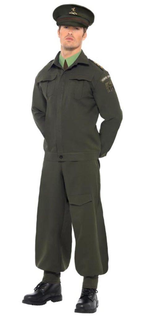 2er Weltkrieg Heimatland Verteidiger Soldat Kostüm, Größe:L