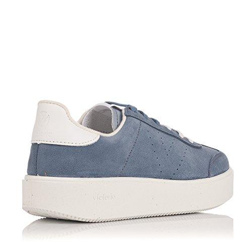 Azul Blu Donna Sneakers Pelle Victoria 5XPFxqP