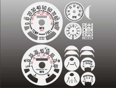 - 1980-1986 Jeep CJ White Face Gauges