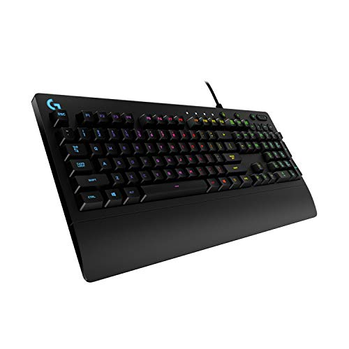 Logitech G213 Gaming Keyboard with Dedicated Media Controls, 16.8 Million Lighting Colors Backlit Keys, Spill-Resistant and Durable Design, Black