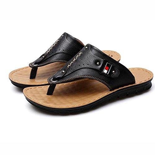 XIAOLIN Sandalias y sandalias de cuero del verano sandalias de los hombres Zapatillas antideslizantes del sexo del pie de los pies Zapatillas de playa al aire libre de la tendencia (tamaño opcional) ( 03