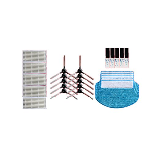 Meijunter 5*Filtro+Lato Brush+Mopping Pad Kit per Proscenic Blue Sky S/Swan Vacuum Cleaner Ltd.