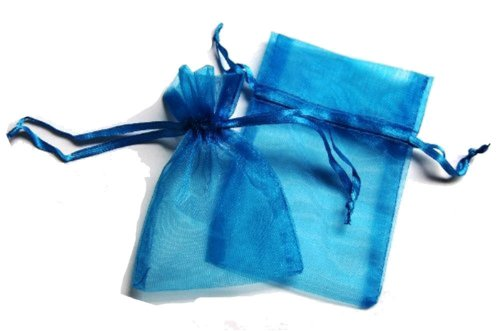 Amazon.com: 48 Organza Drawstring Pouches Gift Bags 4x5 - Gold ...