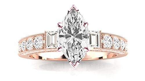 1.11 Ct Marquise Diamond - 6