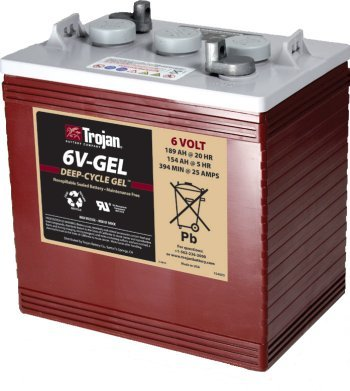 TROJAN 6V-GEL 6V, 189AH (20HR) GEL BATTERY by Trojan Batteries