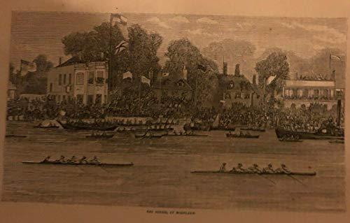 1879 Crew University Rowing Match Harvard OxFits Ford London Boat Club Thomas Hughes
