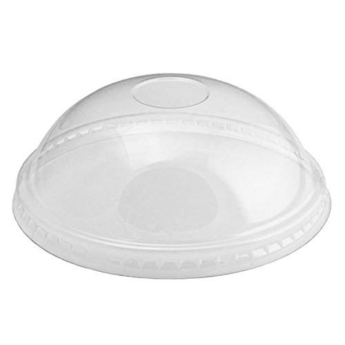 Plastic Clear Dome Lids - Lids Fit Our 6 oz Cups Perfectly - Cups Sold Separately - Fast Shipping - Frozen Dessert Supplies - 50 Count