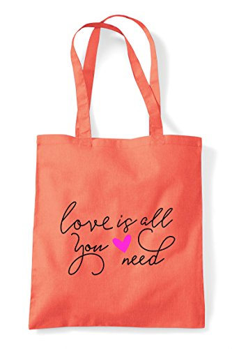 All Coral Is Need Love Statement Shopper Tote Bag You 56Tqwax