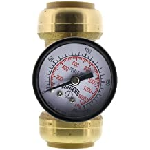 "SharkBite Pressure Gauge with 1"" x 1"" x 3/4"" Tee (Lead Free)"