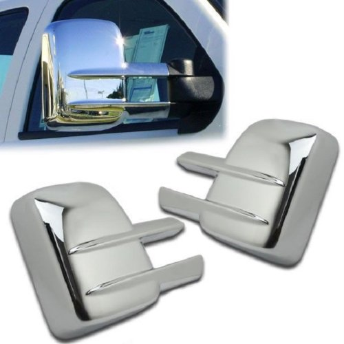 (MaxMate Fits 07-13 Chevy Silverado 2500/3500 HD/GMC Sierra 2500/3500/HD Chrome Tow Mirror Cover)