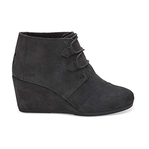 TOMS Women's Kala Oxford Bootie (7.5 M US, Forged Iron Grey Suede)