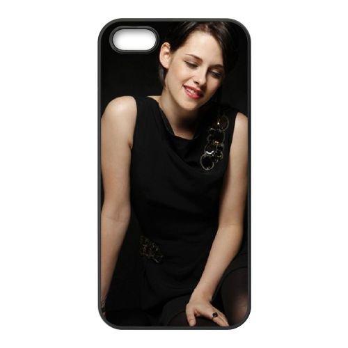 Beautiful Kristen Stewart coque iPhone 5 5S cellulaire cas coque de téléphone cas téléphone cellulaire noir couvercle EOKXLLNCD22100
