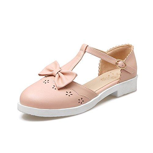 Alla Tacco Cinturino Pink Caviglia Sandali Donna amp;X QIN Basso fBwaaX