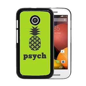 RCGrafix Brand Psych Pineapple Motorola Moto E Cell Phone Protective Cover Case - Fits Motorola Moto E