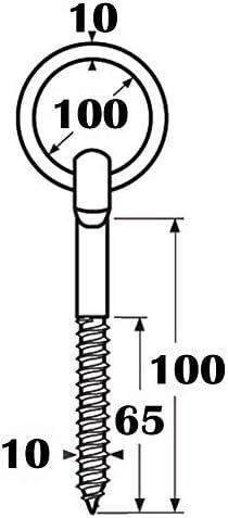 4 Stk. Ringbolzen mit Holzgewinde /Ø 5 mm AVBI