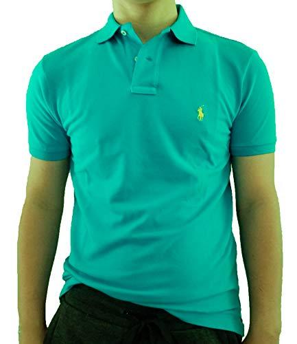 - Polo Ralph Lauren Mens Custom Slim Fit Mesh Polo Shirt (Small, Marco Polo Blue)