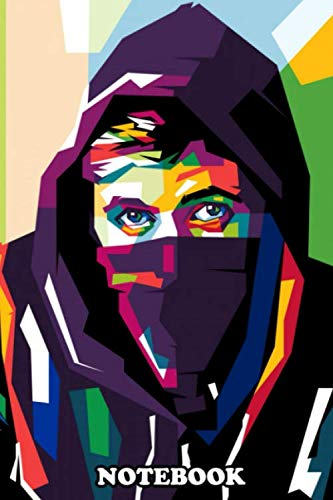 Notebook: Alan Walker In Colorful Illustration Vector , Journal for Writing, College Ruled Size 6