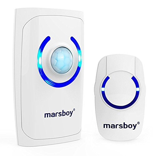 [4 in 1 Multi-function] Marsboy Battery Wireless Doorbell Cordless Chimes with Remote Receiver, Motion Sensor/...
