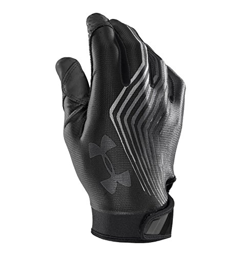 Under Armour Men's UA Blur II Football Gloves XX-Large Black Silver Grey