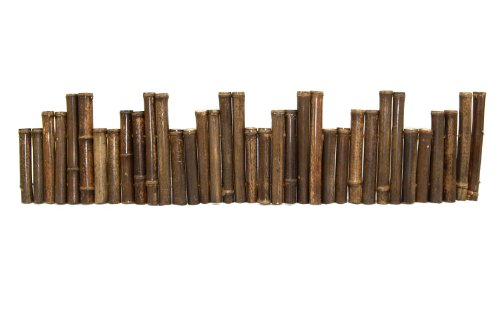FOREVER BAMBOO 31-B8 Bamboo Borders tural Black Bamboo Border Edging 1.25'' X 8' (2 Pieces), by FOREVER BAMBOO