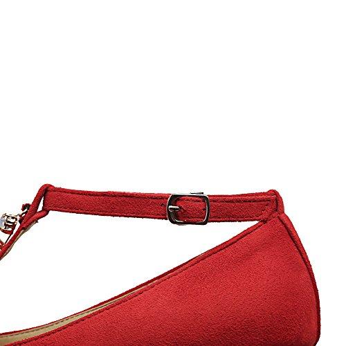 Fibbia Ballet Flats Trafilatura Donna Puro Rosso VogueZone009 q4x8EBAS