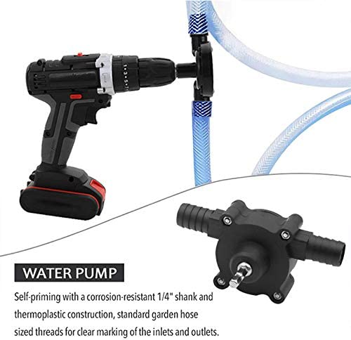 Harwls Manual Electric Drill Drive Self Priming Pump Oil Fluid Water Transfer Pumps